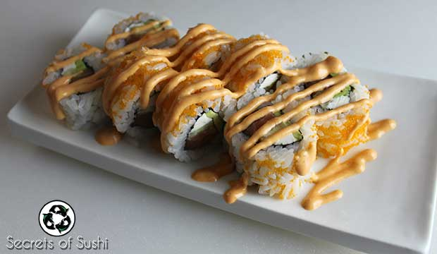 Cream Cheese Sushi on Plate
