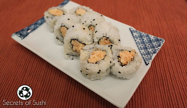 spicy crab sushi roll