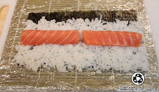 Salmon Roll ingredients