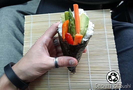 Temaki Sushi: How to Pack Sushi for Lunch: Final Product