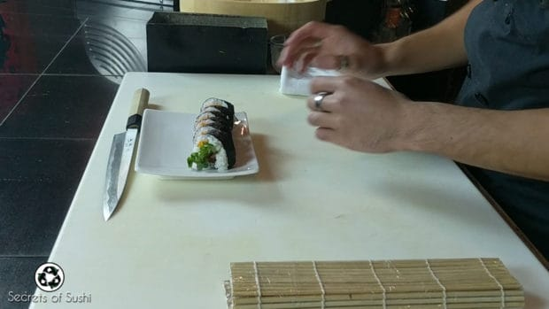 Plating the Spider Roll