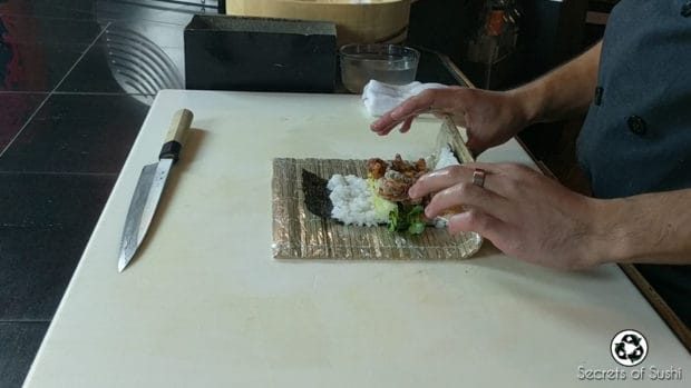 Rolling the Spider Roll - part 1