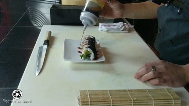 Saucing the Spider Roll
