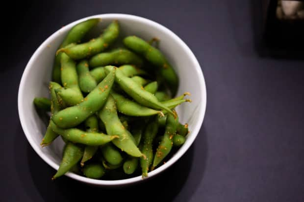 Edamame made for a sushi party
